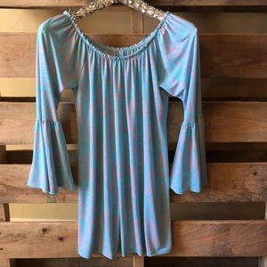 Pink and Turquoise Swing  Dress